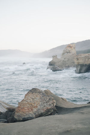 Cape Kiwanda IG @noeldxng Perspectives On Nature The Week On EyeEm Beach Beauty In Nature Beauty In Nature Clear Sky Cliff Day Horizon Over Water Nature No People Outdoors Rock Rock - Object Rock Formation Scenery Scenics Sea Sky Tranquility Water Wave