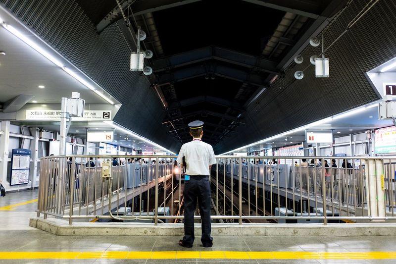 Train controller is doing his thing Japan Japanese  Streetphotography Train Station Kichijoji Minimalism