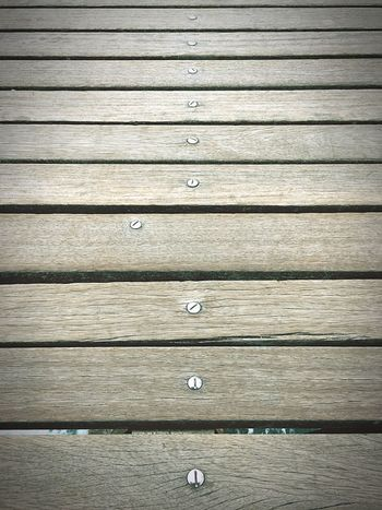 Dare to be different! Nails Different Out Of The Box Offline Lines And Shapes Light And Shadow Composition Parallel Wood Wooden Wooden Dock Screw Not The Same Sea One Of A Kind  Out Of Line