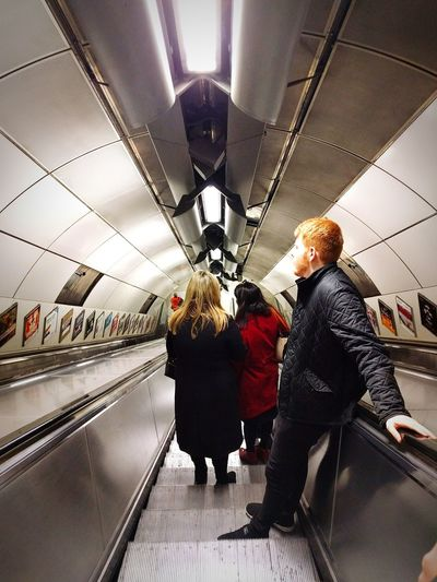 Escalator Surprise Photograph Tube Victoria Line Descent Grey Suffocating