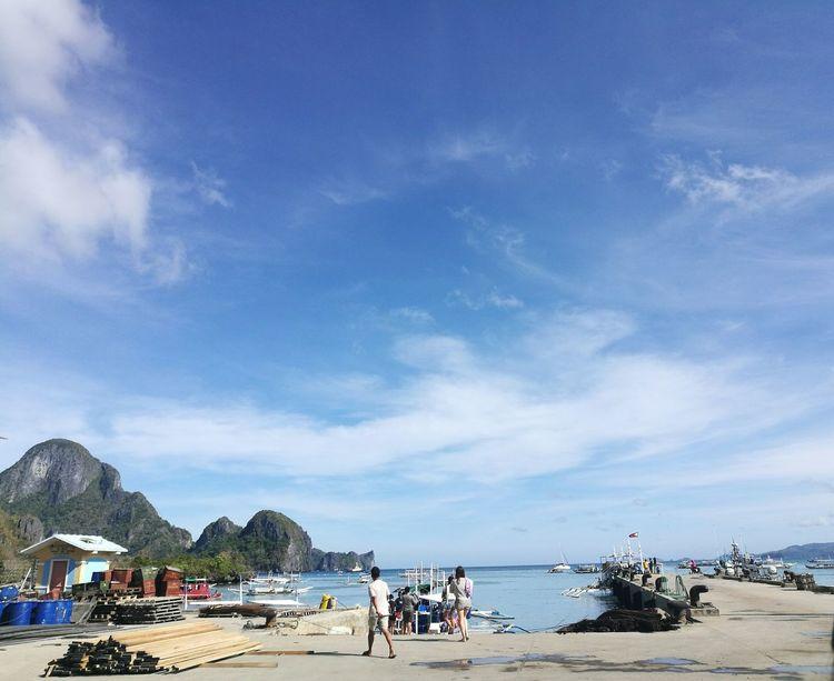 Travel Destinations Sky Water Harbor Cloud - Sky Scenics Palawan Beach Island Philippines Elnido Travel EyeEm Best Shots EyeEmNewHere Memories Filipino EyeEm Nature Lover EyeEmNewInHere