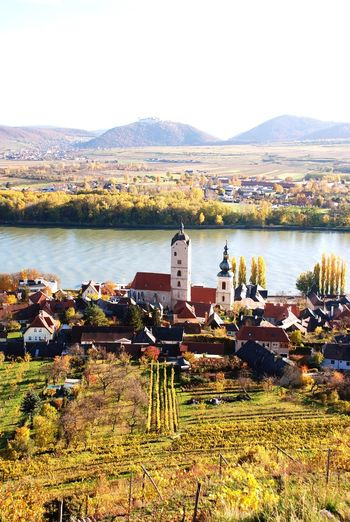 Danube River Wachau Lower Austria Spitz An Der Donau Vineyard Fall Scenics Mountain No People Water Autumn Outdoors Nature Landscape Day Tranquility Travel Destinations Beauty In Nature Sky