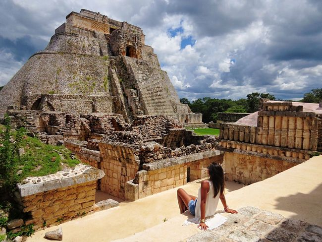 People And Places a beautiful sunny and warm day in the Mayan ruins of Uxmal, located in the Yucatán peninsula. Traveling Mexico Travel Travel Photography Travel Destinations Uxmal Mayan Ruins Yucatan Mexico Travelling Travelgram