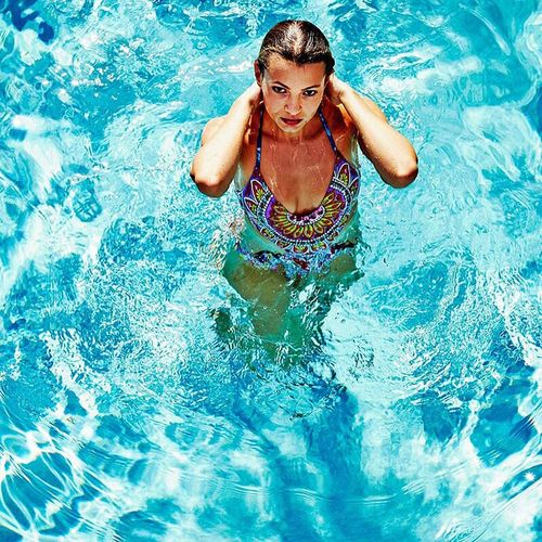 ENDLESS SUMMER Swimming Pool Water Blue Lifestyles Summer Leisure Activity Swimming Vacations Turquoise Colored Front View Floating Nature Travel Pool ClayHaynerPhoto Clay Hayner Photo Fashion Fashion Photography Lifestyle Photography Photooftheday Photo Of The Day Model Swimwear Swimsuit Swimsuit Fashion Live For The Story