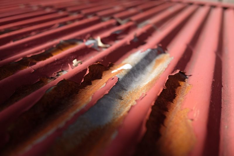 Close Up Of Corrugated Iron