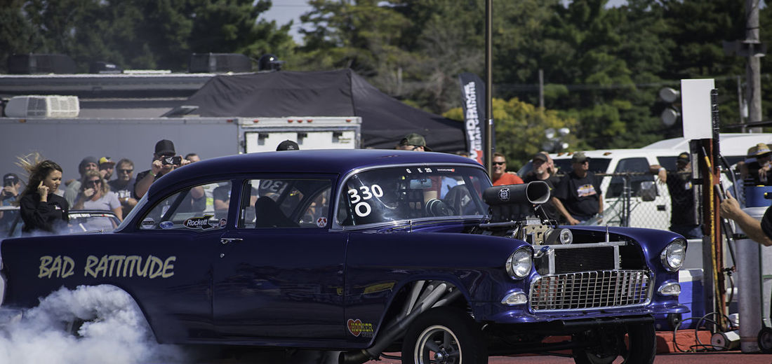 Burnout Byron Dragway Drag Racing Bad Attitude Blue Car Drag Car Land Vehicle Outdoors