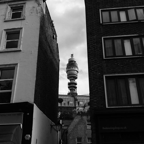 BT Tower BT Tower London Apartment Architecture Building Building Exterior Built Structure City Cloud - Sky Day House Lighting Equipment Low Angle View Nature No People Outdoors Residential District Sky Tower Travel Destinations Wall - Building Feature Window