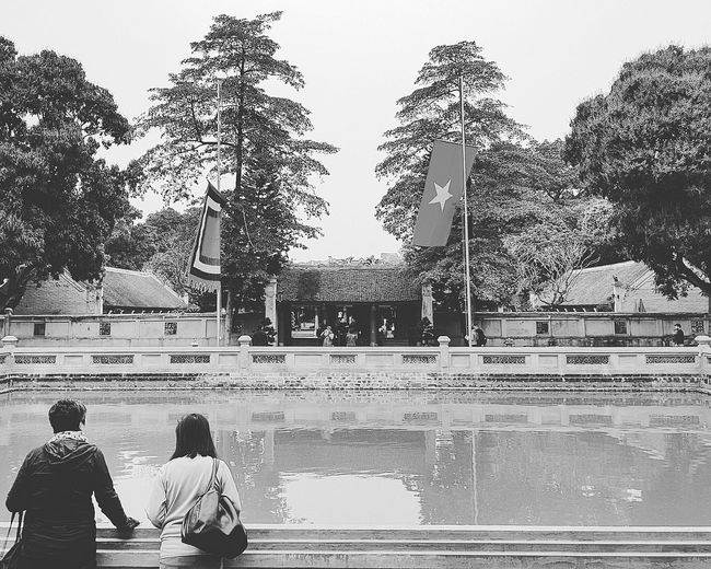Ellen And Sharon Temple Of Literature Temple Of Confucius Streetphotography Bnwstreetphotography Hanoi Streetphotography Hanoi Holiday With Sharon Lsc_hanoi Winter 2018_sharon And Ellen_bnwtemple Of Literature