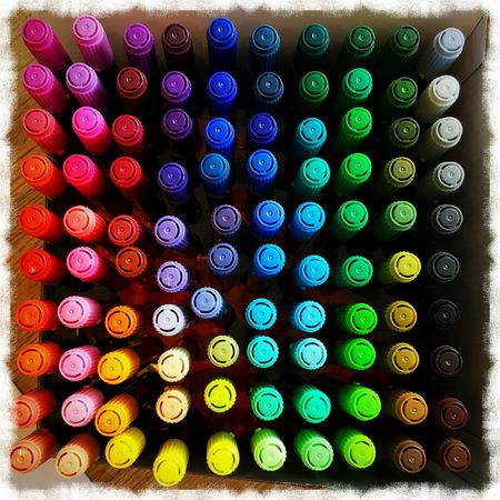 Markers 3 Rainbow Creativity Rainbow Colors Color Rainbowcolors Magicmarkers Magic Markers 100 100things 100colors Drawing Colorful 10x10 Pickone Chooseme Colors Color Photography Pickme Beauty Iloveart Markers  Marker Magicmarker Choices Colour Of Life