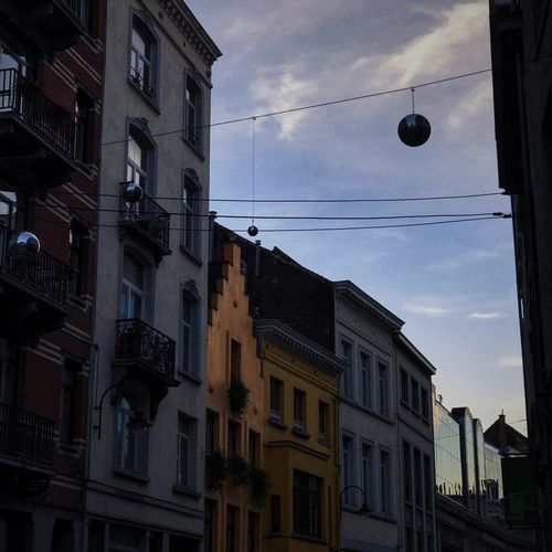 Window Sky City Day Low Angle View Hanging Building Exterior Architecture No People Outdoors Cloud - Sky Sunset Cold Lifestyles Belgium