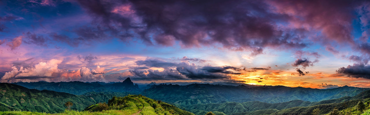 Panoramic view of dramatic sky during sunset