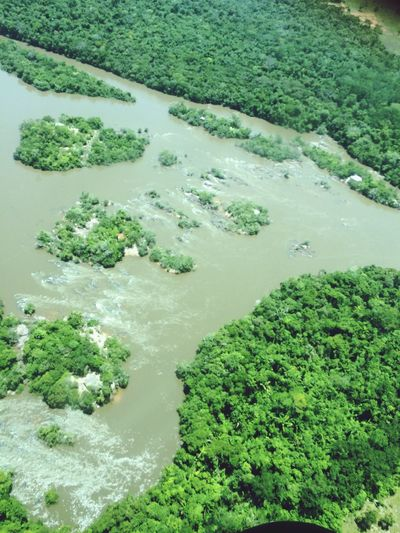 River From A Airplane Window Matogrosso