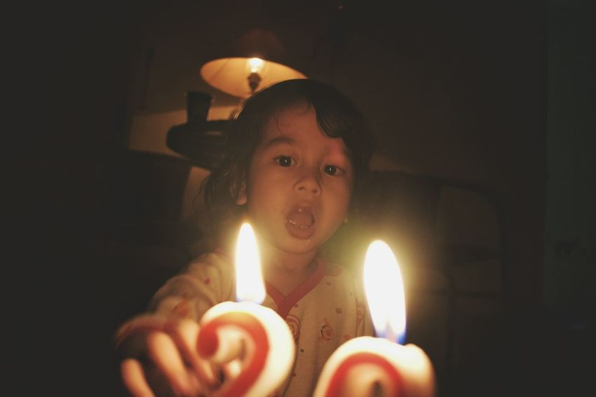 she is the light Malang Photography EyeEmNewHere Tumblr Neon Lights EyeEm Gallery Night Lights Colorful Baby EyeEm Best Shots EyeEm Selects EyeEmBestPics Candle Flame Burning One Person Heat - Temperature Indoors  Lighting Equipment Birthday Candles Birthday Cake Illuminated Celebration Birthday People Children Only Happiness Night Child