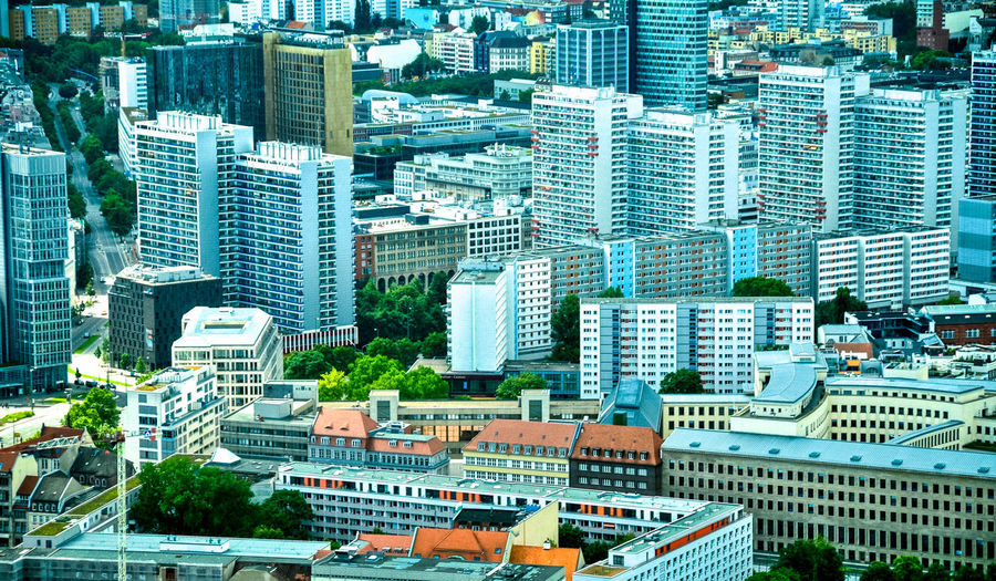 Residential east berlin viewed from the top of the tv tower