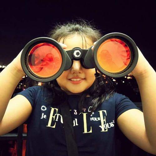 Bigeyes Binoculars Binocs Daughter Child One Person Love Hobby Happychild Portrait
