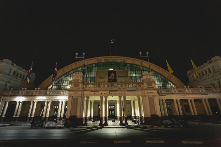 Hua Lamphong Station Architecture Night Building Exterior Built Structure Station Train