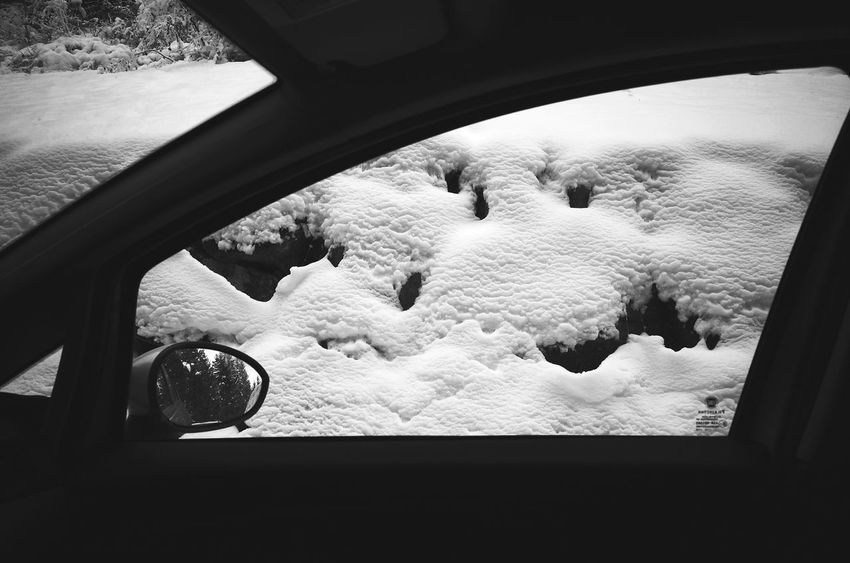 Window Car Looking Through Window Mode Of Transport Transportation Vehicle Mirror Close-up Miles Away On The Road Nature Road Driving Weather Travel Cold Temperature Snow Transportation A Frame Within A Frame Winter Snow ❄ Snowfall Wintertime Season  Dolomites, Italy