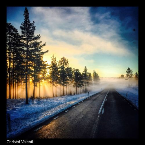 Streamzoofamily Sweden Eye Em Around The World Sun_collection North Trucking On The Road Pictureoftheday Work Sunrise_sunsets_aroundworld Landscape_Collection