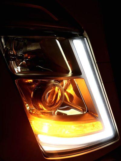 Volvo Trucks Fh4 LED Headlights Light Night Yellow No People Outdoors My Truck Proud La Familia
