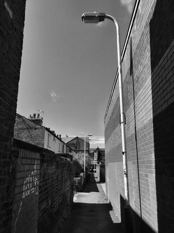 Architecture Built Structure Building Exterior Day Outdoors Sky No People City Liverpool IPhoneography Blackandwhite Black And White Southport Alley