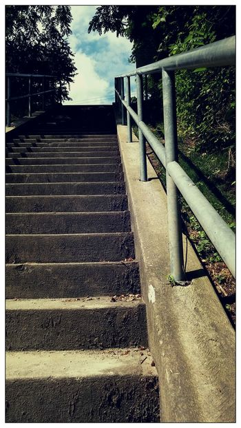 Stairways To Heaven Beautiful Day Rails Of Life Stairs Low Angle View Nature Photography On A Stroll Shot With A Smartphone Camera
