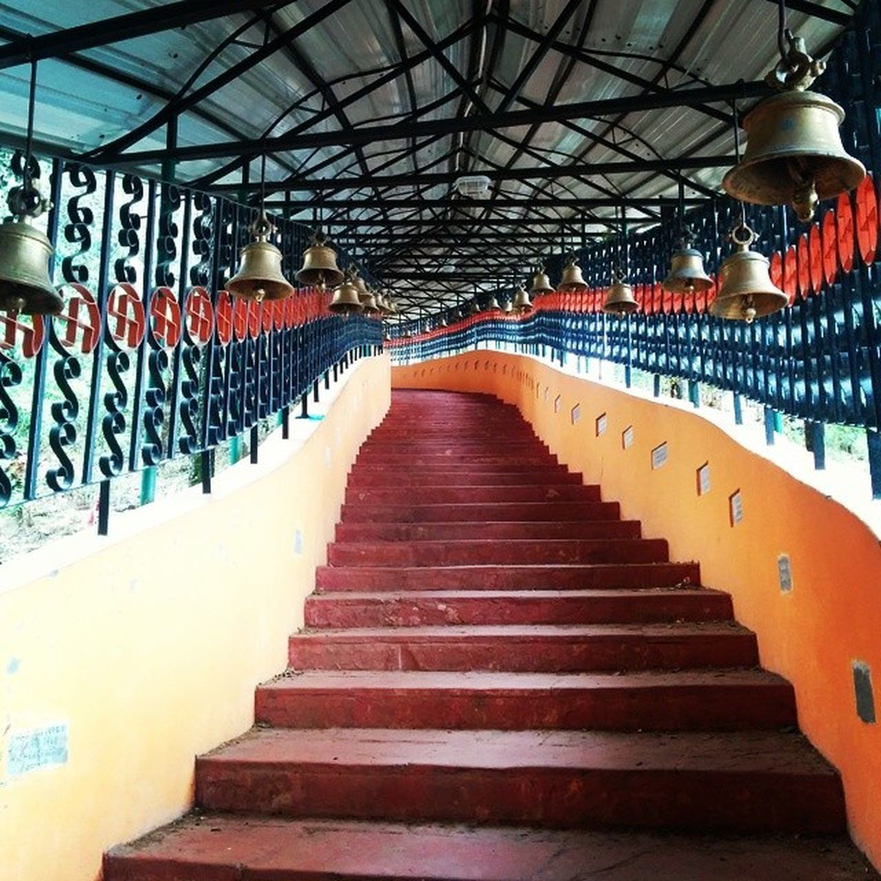 LOW ANGLE VIEW OF STEPS LEADING TOWARDS SUBWAY