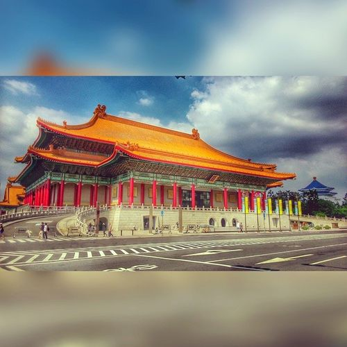 HDR Chiangkaishek Memorial Hall taipei summer