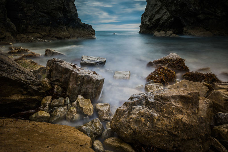 Beauty In Nature Canon Canon_photos Canonphotography Cloud - Sky Day Eroded Land Long Exposure Motion Nature No People Outdoors Rock Rock - Object Rock Formation Scenics - Nature Sea Sky Solid Tranquil Scene Tranquility Water