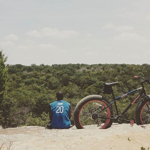 Self therapy is in session. Fatbike Bigfootbike Twenty 20 Therapy Fununderthesun Ridge Lookout Fattirebike TX Temple Millscrossing