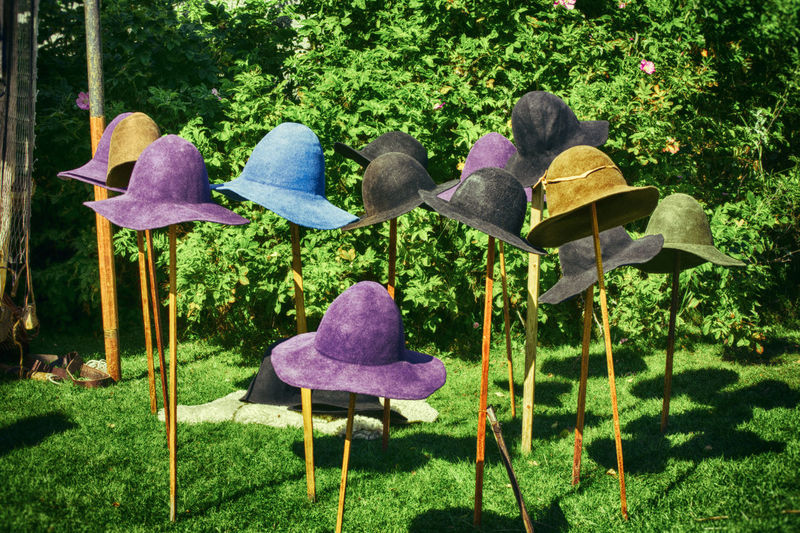 Hatts off Colours Hats Off Clothes Hats No People Outdoors Sticks Wool