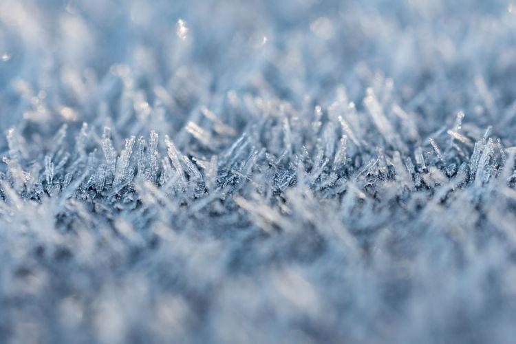 Full frame shot of snowflakes