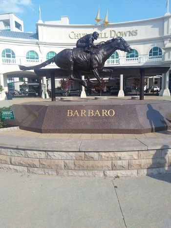 Derby Kentucky  Louisville Churchill Downs City Sculpture King - Royal Person Text Carousel Architecture Sky Built Structure