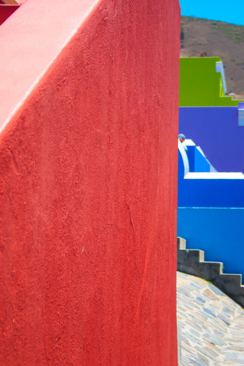 Cape Town Architecture Bo-kaap Building Exterior Built Structure Close-up Day Multi Colored No People Outdoors Red Sky