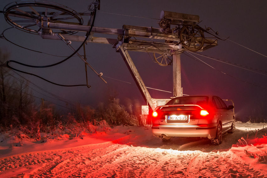 AWD  Cars Chilling Night Photography Nightphotography Peace Peace And Quiet Red Subaru Transportation Car Chill Cold Temperature Night No People Outdoor Photography Outdoors Peaceful Sky Snow Technology Winter