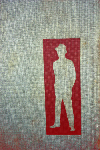 Detective Illustration Man Standing Pulp Fiction Red & White Sihouette  Standing Alone Standing Tall Two Tone