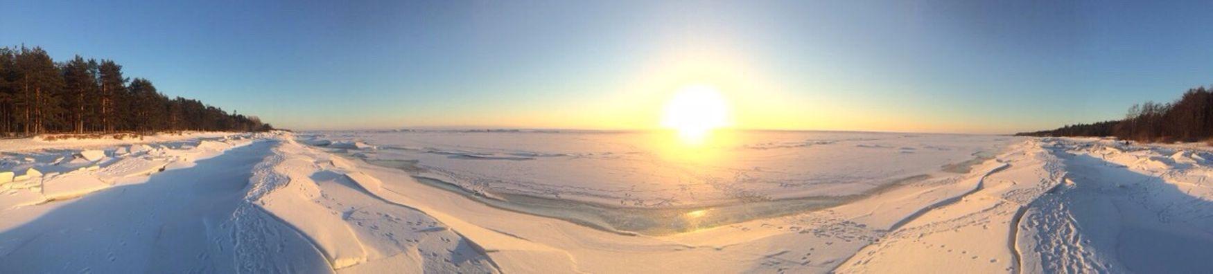Dacha Komarovo Finlandbay Winter Wonderland Snow Ice