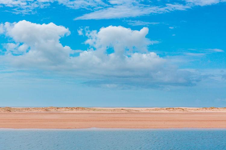 Cloudscape Copy Space Fluffy Horizontal Landscape Tranquil Scene Beach Blue Calm Clouds Lines Minimal Minimalism Nobody Plain Rhythm Sand Serene View Water