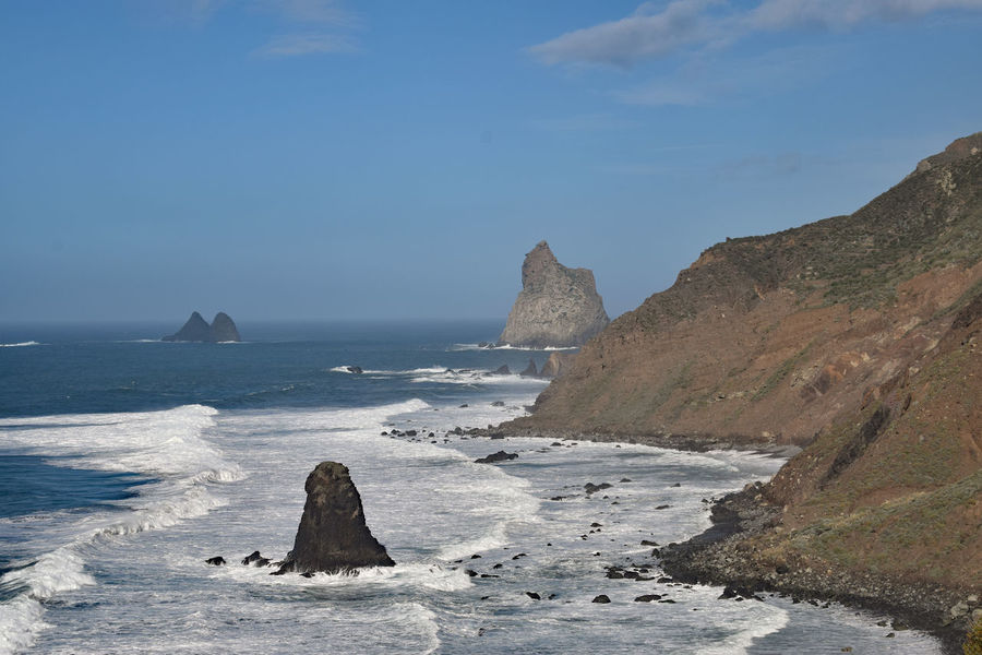On the beach of Taganana in the northeast of the island of Tenerife -Am Strand von Taganana im Nordosten der Insel Teneriffa, Canary Islands Beauty In Nature Day Horizon Over Water Iceberg Nature No People Outdoors Rock - Object Scenics Sea Sky Taganana Tenerife Tenerife Island Teneriffa Tranquility Water