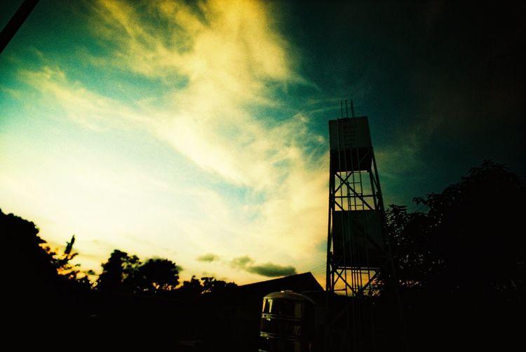 Sky Sunset Silhouette Outdoors Watertank First Eyeem Photo