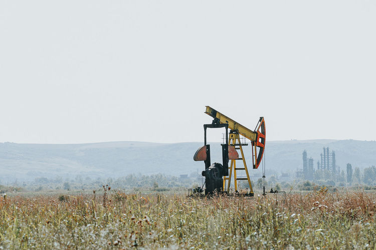 Oil Well Pump On Field