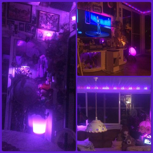 purple night, púrpura noche, lilla natt Phillipshue Led Lights  Home Sweet Home Home