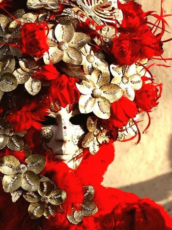 Red mask from Venice Italy Red Flower Rosso Rossa Maschere Veneziane Mascherato Carnival Carnevale Carnevale Di Venezia