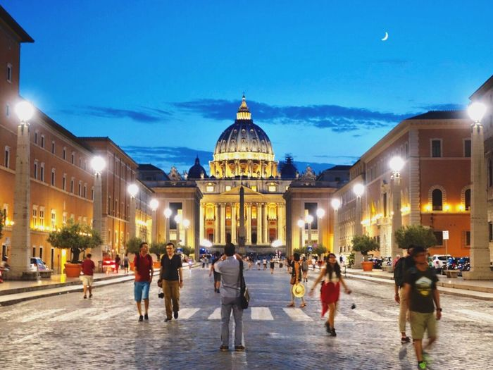 Vatican City Vatican Rome Roma Italy Italia Traveling Evening Moon Lighting Architecture Night View Iamonmywaytoeverywhere