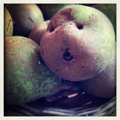 Angry little pear faces Friday :) Facing Friday Pears Moments I See Faces