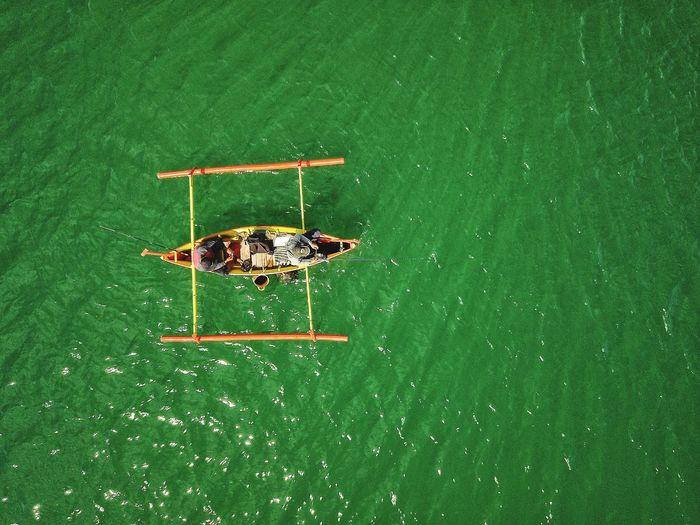 Fishing High Angle View DJI Mavic Pro Aerial View Nautical Vessel Real People Fishing Fisherman Fishing Boat Fishing Time Go Higher