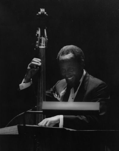Percy Heath (1923 - 2005 - The Modern Jazz Quartet) in early 80' in concert. Arts Culture And Entertainment Bassist Indoors  Jazz Concert Men Modern Jazz Quartet Music Percy Heath Real People Global Photographers Alliaance Global Photographer Works Exhibition