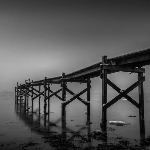 Old jetty in