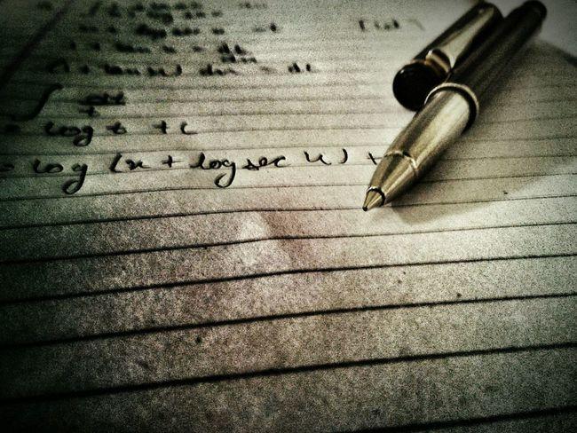 Maths+ Pen+ Notebook + Calculus= Better Together
