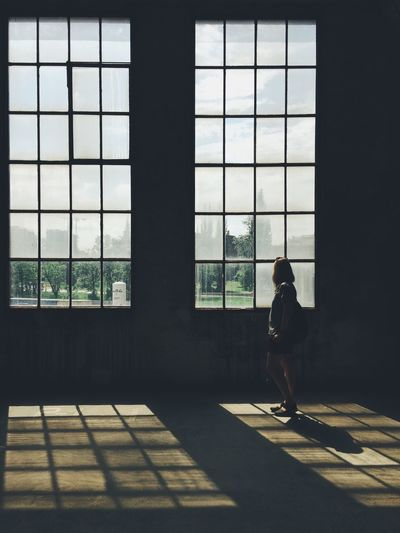 Citizen Portrait Woman Girl Window Real People Day One Person Full Length Sunlight Glass - Material Architecture Indoors  Side View Lifestyles Shadow The Street Photographer - 2018 EyeEm Awards #urbanana: The Urban Playground