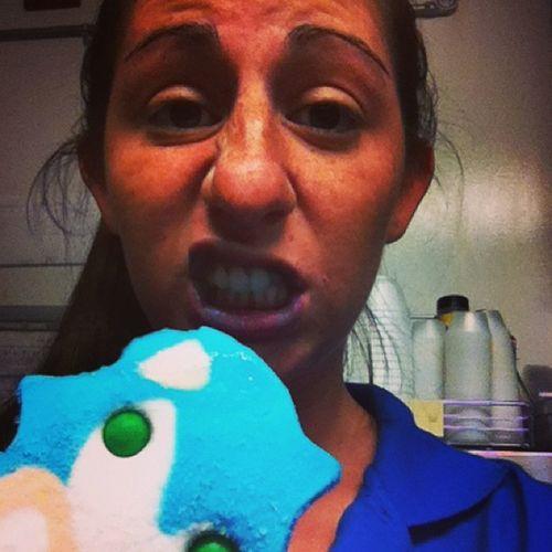 Looky what we got at work ?? Sonic Blue CrazyHair Bluemouth blueballs work tired slutz